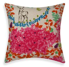 Japanese Echino Woodland Forest Pink Cover. $29.95, via Etsy.