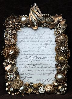 Vintage Jeweled Rhinestone Picture Frame ♥ by lsirois on Etsy, $170.00