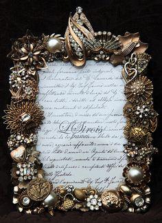 Vintage Jeweled Rhinestone Picture Frame