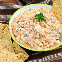This dip is so good with tortilla chips! Great for parties.