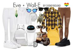 """""""Eve + Wall-E"""" by leslieakay ❤ liked on Polyvore featuring WearAll, Topshop, American Eagle Outfitters, Tommy Hilfiger, Disney, Skagen, River Island, WALL, Converse and adidas"""