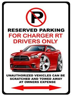 10x14 DODGE CHALLENGER Aluminum Parking Sign