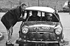 1967 Swedish rally Aaltonen / Liddon 3rd o/a , 1st in class !! , at least the reporter thinks its funny .
