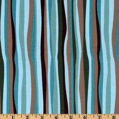 Galaxy Wavey Stripe Teal Fabric By The Yard: Arts, Crafts