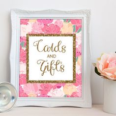 Cards and Gifts Printable / Cards and Gifts Sign Printable /