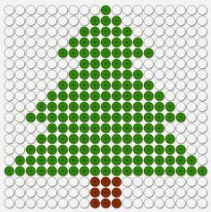 Kralenplank kerst: kerstboom dennenboom
