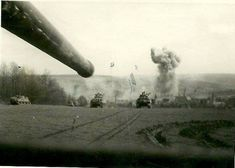 714th Tank Battalion in combat, unknown location, German 1945.