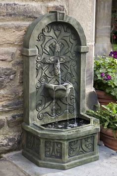 Rimini Outdoor Wall Fountain Will Make A Pleasant Falling Water Sound That  Will Soothe You And You Guests.