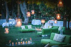 Green | Pop Sofa by Piero Lissoni | A Midsummer Night's Dream Location: Castello Monaci, Lecce (italy)