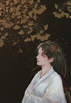 Beautiful Chinese Girl, Beautiful Fantasy Art, Beautiful Anime Girl, Dark Anime Girl, Anime Girl Cute, Anime Art Girl, Geisha Art, L5r, Anime Love Couple