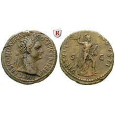 Römische Kaiserzeit, Domitianus, As 92-94, ss: Domitianus 81-96. Kupfer-As 27 mm 92-94 Rom. Kopf r. mit Lorbeerkranz IMP CAES DOMIT… #coins