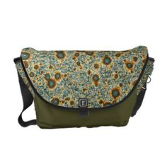 Army Green Brown Fractal Print Large Messenger Bag: Speed field full of swirling and colliding vortices in computer-simulated 2D turbulence.