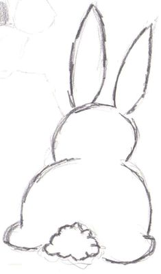 Bunny Outline Drawing drawing Pinterest #drawingdoodleseasy