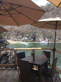 Ocean Grill in Boca de Tomatlan Mexico