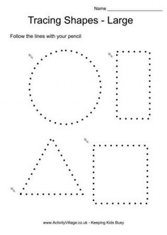Tracing Shapes Large --tracing pages and lots more printables