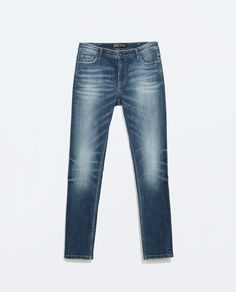 Image 6 of MID-RISE CIGARETTE JEANS from Zara