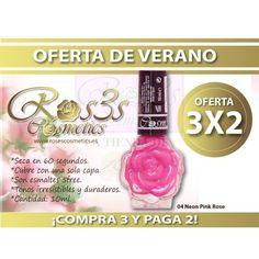 OFERTA ESPECIAL DE VERANO.COMPRA 3x2 Esmaltes Profesionales Ros3s