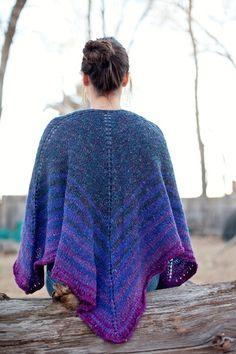 sheep wagon shawl back New! Gorgeous Knit Shawl Pattern