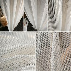 Elevate Your Surroundings With Handmade White Mesh Gold Glitter Net Single Curtain Made To Measure Order Custom For U Color