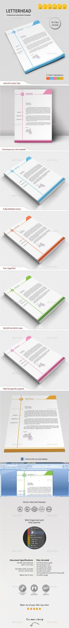 Letterhead Letterhead, Stationery printing and Letterhead template - corporate letterhead template