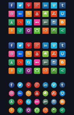 Modern Social Media #Icons