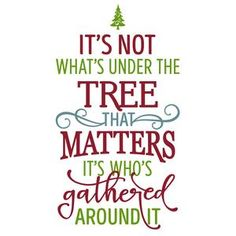 Silhouette Design Store: it's not what's under the tree that matters phrase