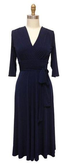 #Karina Dresses - #Karina Dresses Margaret Dress - Navy - AdoreWe.com