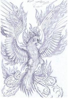 Image issue du site Web http://fc03.deviantart.net/fs70/f/2012/213/0/b/phoenix_sketch_by_nam77-d59drs8.jpg