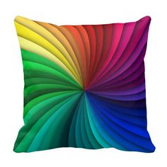 Unique and colourful rainbow pillow !!