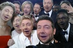 Kevin Spacey Selfie at the Oscars