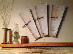 Windmill Wall Art using an old windmill tail as wall art. | fun ways to re~purpose