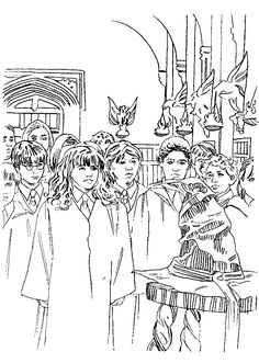 coloring page Harry Potter and the Philosophers Stone Kids-n-Fun