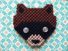 Moonrise Kingdom Raccoon Pin Brooch by abstractamanda on Etsy, $6.00