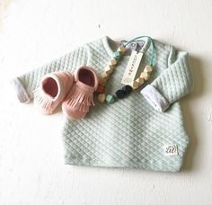 MINTYGREEN QUILT SWEATER via P E T I T   PUK. Click on the image to see more!