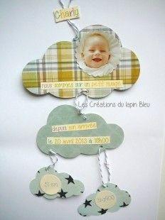 faire-part naissance mobile  : Faire-part par les-creations-du-lapin-bleu sur ALittleMarket 3.10