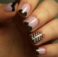 The Nailasaurus: Tape Chevrons (with Step-by-Step)