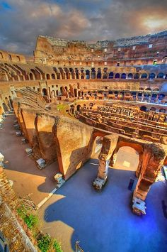 Wander around Italy's famous Colosseum on an interior tour. This amphitheater was the site of gladiator battles and other spectacles of ancient Rome.