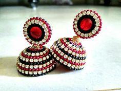 Silk Thread Jhumkas, Silk Thread Necklace, Beaded Necklace Patterns, Silk Thread Bangles, Thread Jewellery, Jewelry Patterns, Beaded Jewelry, Handmade Beads, Handmade Jewelry