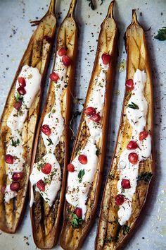 eggplant with yogurt dressing and za'atar / www.bitebymichelle.com