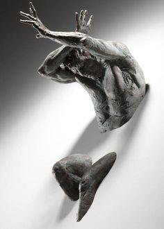 Sculptures Embedded in Gallery Walls by Matteo Pugliese | InspiredOcean