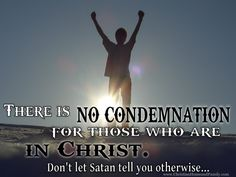 """www.ChristianHomeandFamily.com - Everyday Satan tries to bring us down by burdening us with guilt. Don't let Him! You are in Christ and free from sin. Your past is forgiven and your sins are """"washed white as snow."""""""