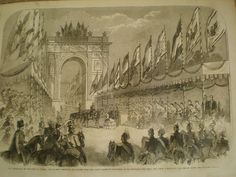 Coronation of King William I of Prussia Germany at gates of Konigsberg 1861