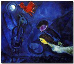 """Marc Chagall """"Aleko"""", huile sur toile (1949). Sourcing image : « Hommage à Marc Chagall, œuvres de 1947 à 1967 », Fondation Maeght, été 1967. Bibliothèque Vert et Plume"""