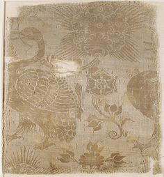 Damask  Date:     14th century Geography:     Made in Lucca, Italy Culture:     Italian Medium:     Silk