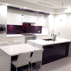 TOP KITCHEN DESIGN TRENDS 2016 Kitchen design is a funny beast. Each year we see different trends cycle around in magazines and on home renovation programs like The Block which Kitchen Art, New Kitchen, Kitchen Design, Kitchen Ideas, Purple Kitchen, Splashback, First Home, Home Renovation, Kitchen Remodel