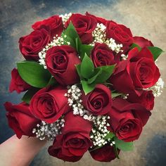 #Traditional #red #rose #bouquet. The #simplicity of this #beautiful #bouquet is matched with its #classic #style.