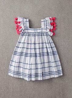 Nellystella Chloe Dress in Blue Check - N15S000-BC