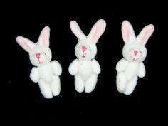 Mikro Kaniner 10stk - Bordpynt til Barnedaab Pige