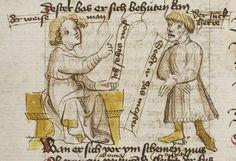 Thomasin <Circlaere>   Welscher Gast (b) Nordbayern (Eichstätt?), um 1420 Cod. Pal. germ. 330 Folio 11v