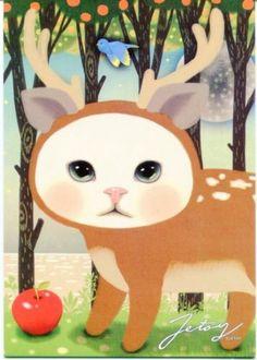 Korea-Jetoy-Choo-Choo-Cat-Postcard-02